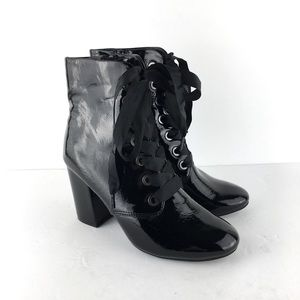 Kenneth Cole Reaction Black PatentLeather Boots6.5